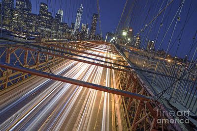 Nyc Power Surge Print by Marco Crupi