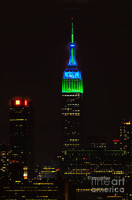 Super Bowl Xlviii Photograph - Nyc Salutes Seattle Seahawks by Regina Geoghan