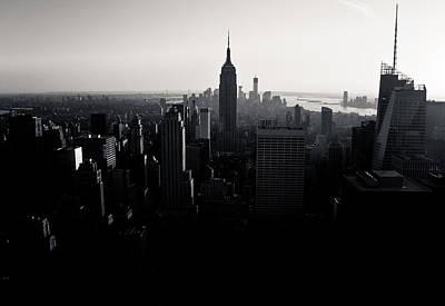 Photograph - Nyc Skyline Black by Richard Cline