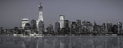 Skylines Royalty-Free and Rights-Managed Images - NYC Skyline by Eduard Moldoveanu