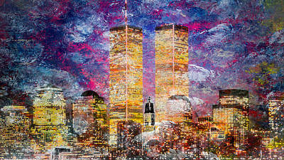 Digital Art - Nyc Skyline by Louis Ferreira