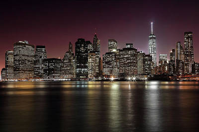City Center Wall Art - Photograph - Nyc Skyline by Nicol?s Merino