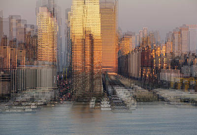 Digital Art - Nyc Skyline Shapes by Susan Candelario
