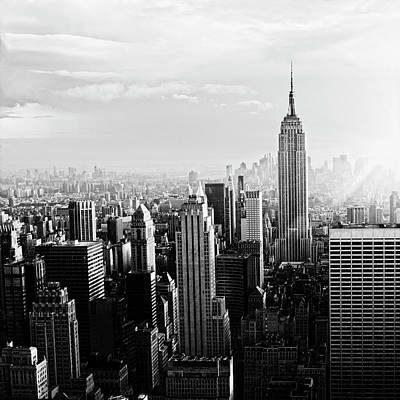 Cityscapes Photograph - Nyc Skyline.black And White by Lisa-blue