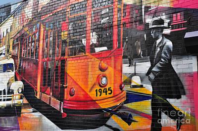 Nyc Street Art-old Times Square Art Print by Regina Geoghan