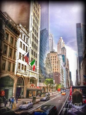Photograph - Nyc Street Scene  by Susan Garren