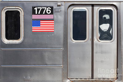 4th July 1776 Photograph - Nyc Subway Car 1776 by Jannis Werner