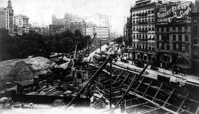 Nyc Subway Construction, Union Square Print by Science Source