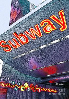 Nyc Subway Art Print by Linda  Parker
