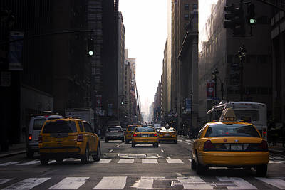 Canon Rebel T2i Photograph - Nyc Taxi Cars by Samir Mustafic