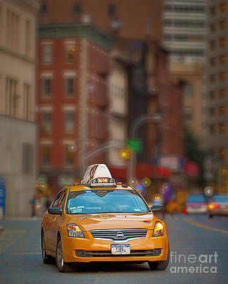 Art Print featuring the digital art Taxi by Jerry Fornarotto