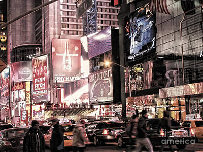 Nyc - Times Square Art Print by Jesse Forrister
