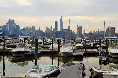Nj Digital Art - Nyc View From Lincoln Harbor Weehawkin Nj by Bill Cannon