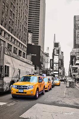 Nyc Yellow Cabs Art Print