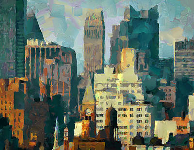 Nyc Digital Art - NYC by Yury Malkov