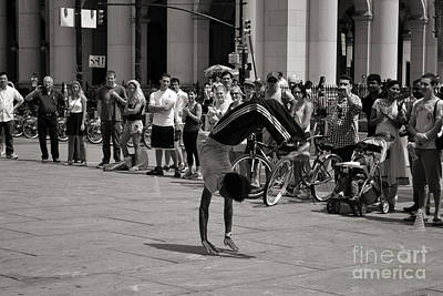 Photograph - Nycity Street Performer by Angela DeFrias