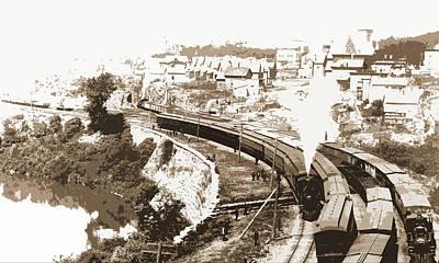 N.y.c.r.r. New York Central Railroad At Little Falls Art Print