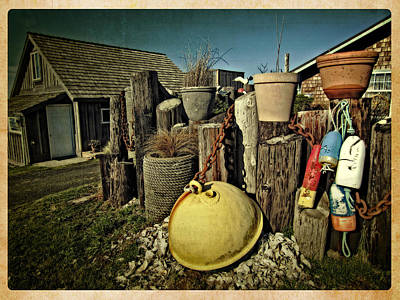 Print featuring the photograph Nye Beach Buoys by Thom Zehrfeld
