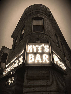 Photograph - Nye's Bar Sepia V.2 by Heidi Hermes