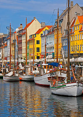 Nyhavn Sailboats Art Print by Dennis Cox WorldViews