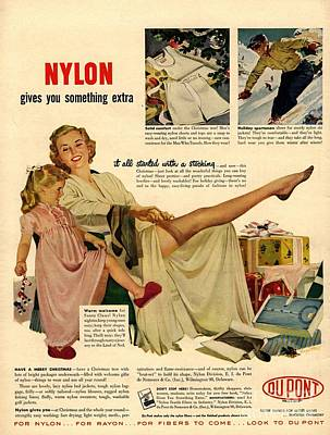 Nylon By Dupont 1940s Usa Nylons Art Print by The Advertising Archives