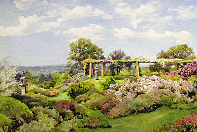 Shrubbery Painting - Nymans Sussex by Alfred Parsons