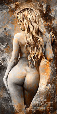 Nymph 02 - Digital Colored Rust Art Print by Emerico Imre Toth