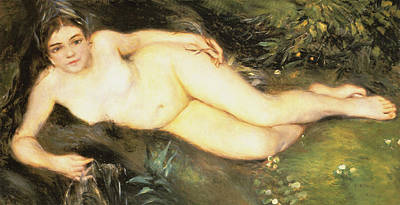 Digital Art - Nymph At The Stream by Pierre Auguste Renoir