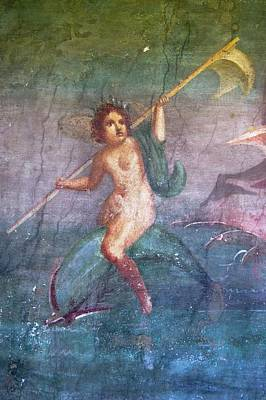 Mural Photograph - Nymph Painting In Pompeii. by Mark Williamson/science Photo Library