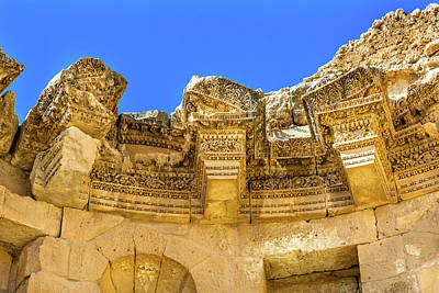 Jordan Photograph - Nymphaeum Public Fountain, Ancient by William Perry