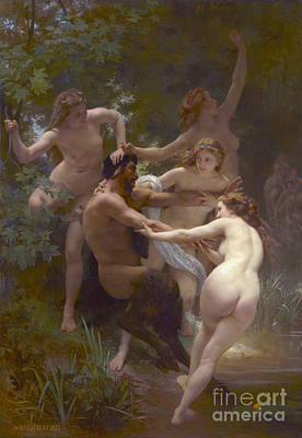 Nymphs And Satyr 1873 Art Print by Padre Art