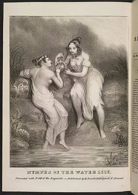 Depictions Of Nudity Photograph - Nymphs Of The Water Lily by British Library