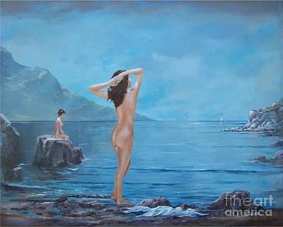 Painting - Nymphs by Sinisa Saratlic
