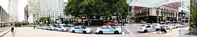 Nypd Cop Cars In Front Of Lincoln Center Art Print by Nishanth Gopinathan