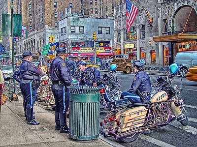 Nypd Highway Patrol Print by Ron Shoshani