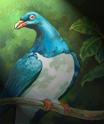 Painting - Nz Native Pigeon Kereru by Patricia Howitt