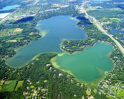 Photograph - O-013 Oconomowoc Lake To West Waukesha County Wisconsin by Bill Lang