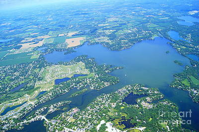 Photograph - O-015 Okauchee Lake To West Waukesha County Wisconsin by Bill Lang