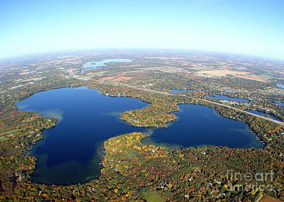 Photograph - O-018 Oconomowoc Lake Waukesha County Wisconsin Fall by Bill Lang