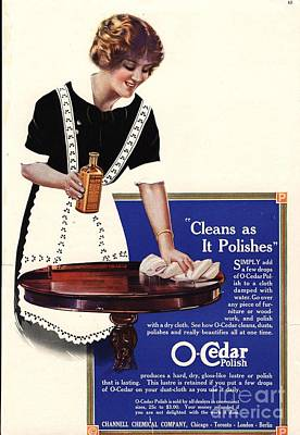 Nineteen-tens Drawing - O-cedar 1910s Usa Polish Dusting by The Advertising Archives