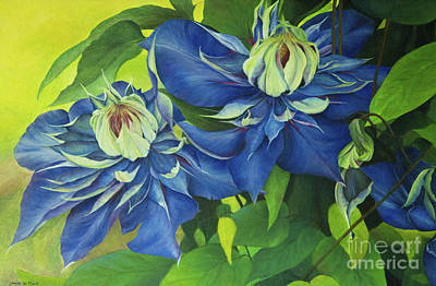 Painting - O Clematis by Jeanette French