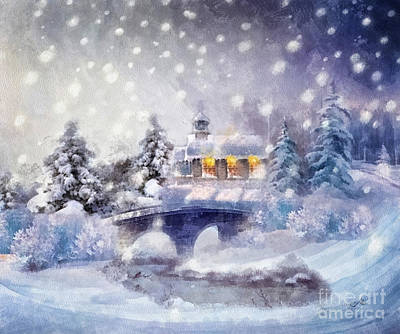 Snow Flake Painting - O Holy Night by Mo T