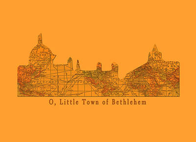 O Little Town Of Bethlehem Art Print by Sarah Vernon