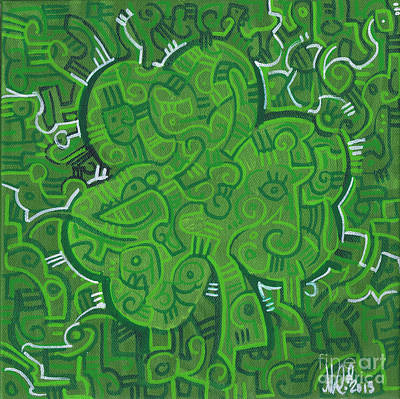 Shamrock Painting - O' Lucky by Michael Ciccotello