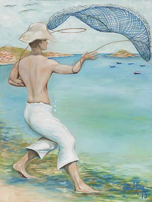 Joseph Edward Allen Painting - O Pescador by Joseph Edward Allen