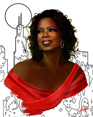 O Town Oprah Art Print