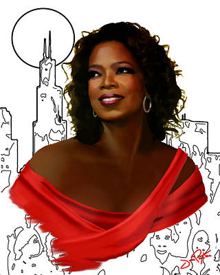 O Town Oprah Art Print by Jann Paxton