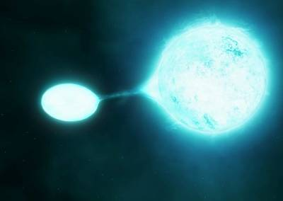 Luminescence Photograph - O-type Star Binary by M. Kornmesser/s.e. De Mink/european Southern Observatory