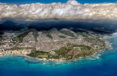 Photograph - Oahu Aerial View by Dan McManus