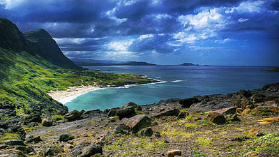 Photograph - Oahu Hawaii South Shore Oil by Wayne Wood